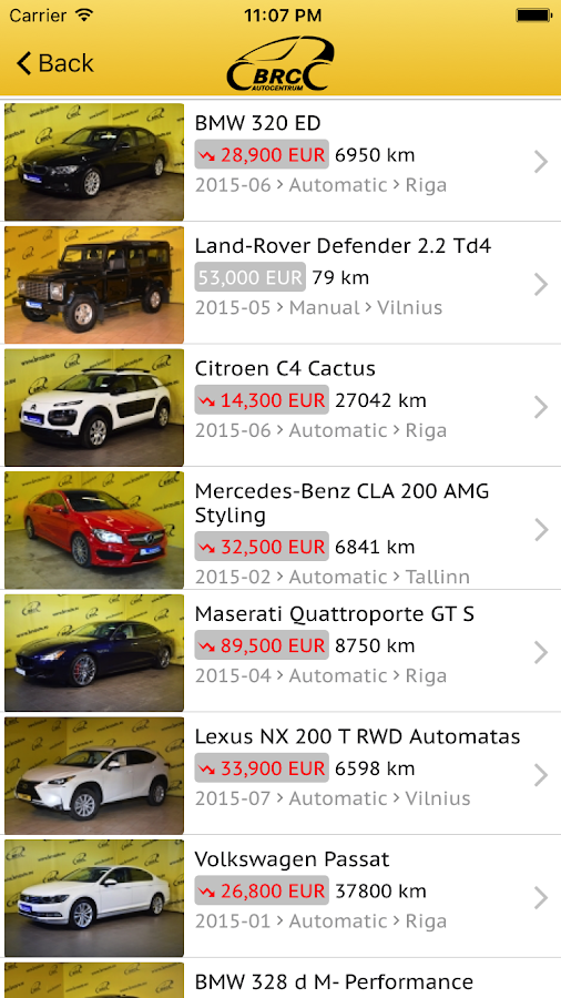 BRC auto- screenshot