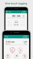 screenshot of Nursing Timer Tracker