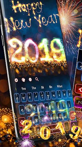 2019 Happy New Year Keyboard Theme 10001003 screenshots 1