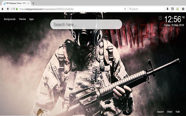 Counter Strike CS GO New Tab Theme