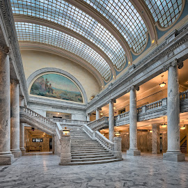Inside the Utah State Capitol by John Williams - Buildings & Architecture Public & Historical ( utah, capitol building, stairs, interior, architecture )