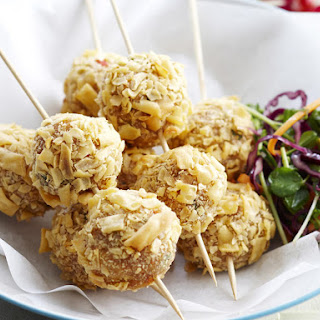 Chicken Meatballs with Thai Slaw