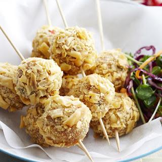 Chicken Meatballs with Thai Slaw.