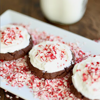 Peppermint Frosted Chocolate Cookies