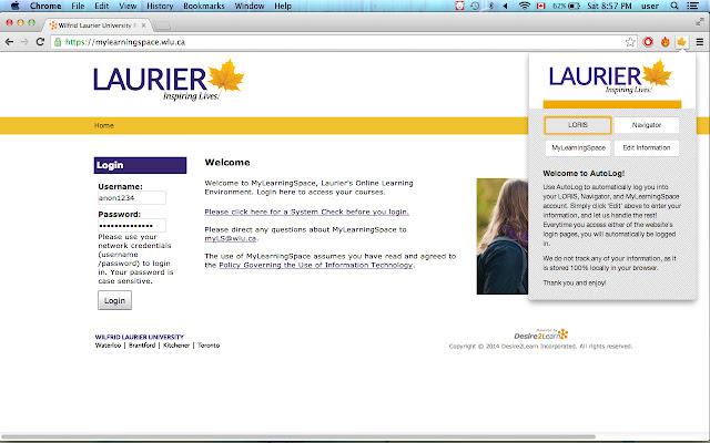 AutoLog - Laurier