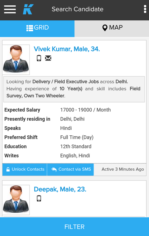 Job Market- Blue/Grey Collared- screenshot