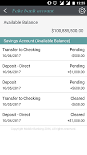 fake bank account apps on google play