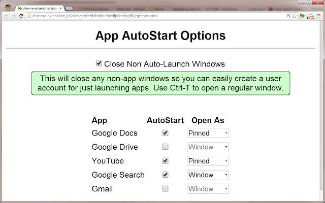 Chrome Autostart