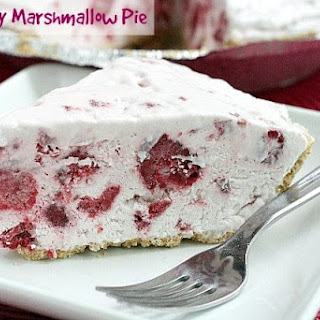 RASPBERRY MARSHMALLOW PIE.