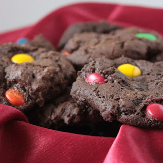 Double Chocolate M&M Cookies.