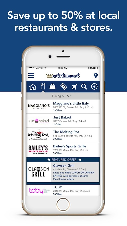 EntertainmentCoupon Membership- screenshot