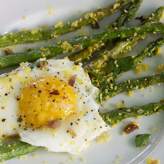 Asparagus, Egg & Bacon Bits Recipe