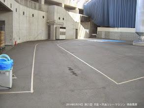 Photo: 通路幅は2.5m 今年は広めにとりました