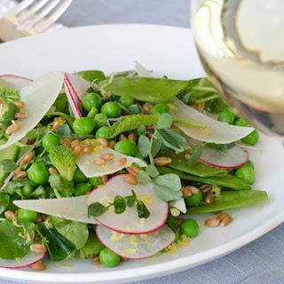Farmers Market Pea Salad with Shaved Pecorino Romano