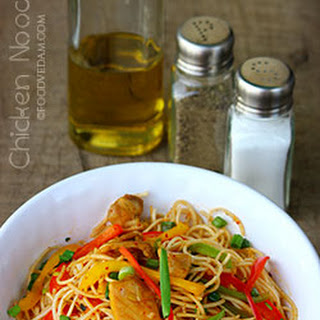 Chicken Noodles with Mustard Sauce and Honey-Foodvedam Recipe