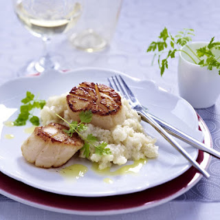 Scallops with Celery Root Mash