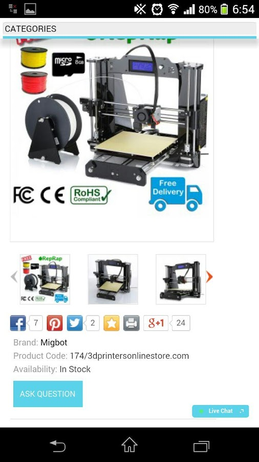 3d Printers Online Store Android Apps On Google Play