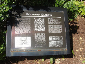 Photo: info about the gardens