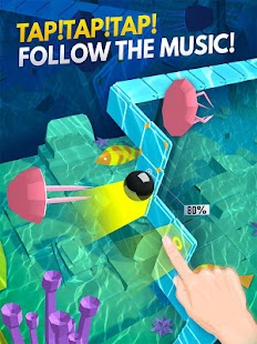 ApkMod1.Com Dancing Ball World : Music Tap + Mod (Free Shopping) for Android Arcade Game