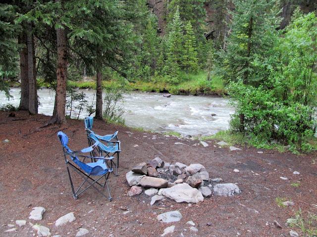 Camp spot along the Animas River