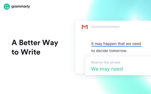 Grammarly for Chrome Screenshot