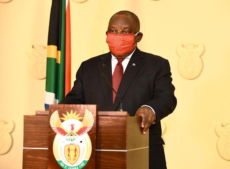 President Cyril Ramaphosa addresses SA onn Wednesday night.