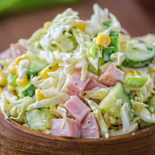 Cabbage and Ham Salad.