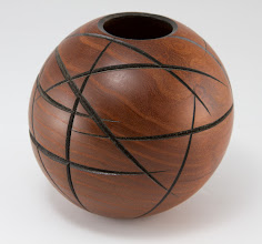 "Photo: Phil Brown 4 1/2"" x 4 1/2"" hollow form"