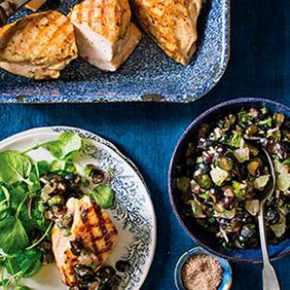Grilled Chicken with Blueberry-Lime Salsa