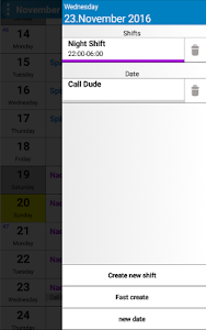 Shift Planer screenshot 2