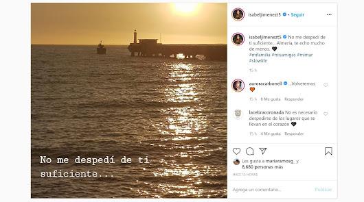 """""""Almería, te echo mucho de menos"""": las emotivas palabras de Isabel Jiménez"""