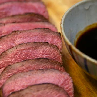 Slow-Roasted Spice-Rubbed Venison Loin.