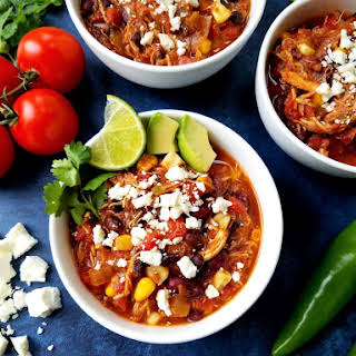 Slow Cooker Taco Chicken Chili.