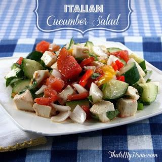Italian Cucumber Salad