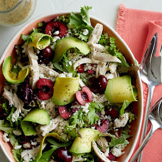 Cherry Chicken Salad with a Creamy Poppy Seed Vinaigrette