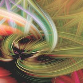 Twist Experiment 2 by Dee Haun - Digital Art Abstract ( 16x9, twirling, twirls, 180327f1071e1le3r1_16x9, screen saver, abstract, twists, digital art, swirls )