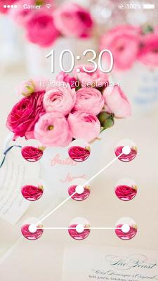 AppLock Theme Pink Flowers - screenshot