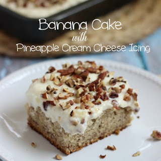 Banana Cake with Pineapple Cream Cheese Frosting