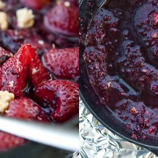 Clean Eating Barbecued Berries & Walnuts Skillet Recipe