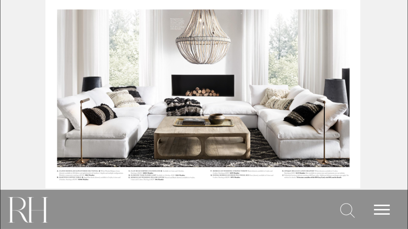 Restoration hardware android apps on google play for Restoration hardware online shopping