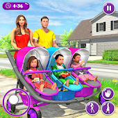 New Mother Baby Triplets Family Simulator icon