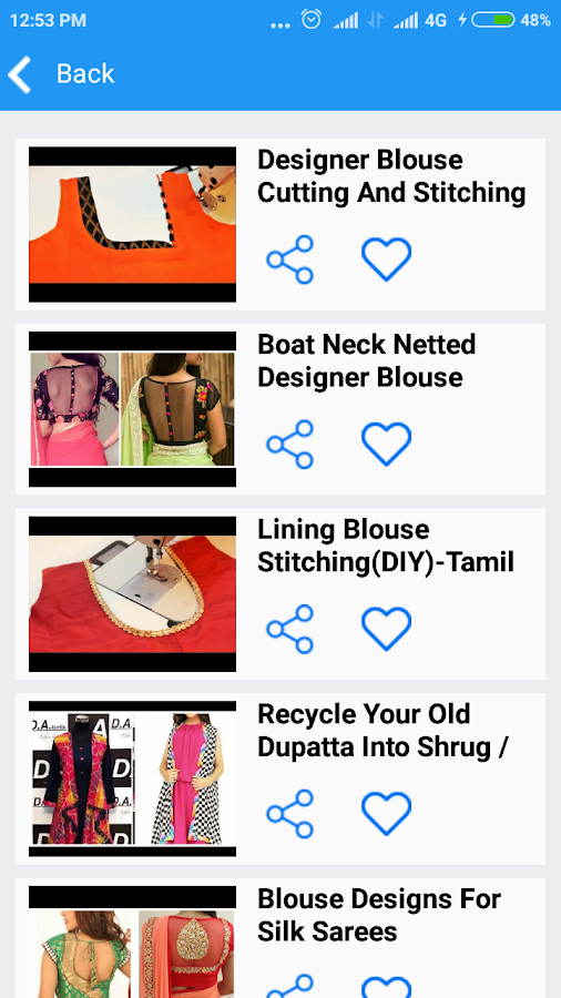 Designer blouse cutting stitching Tamil videos - Android Apps on ...
