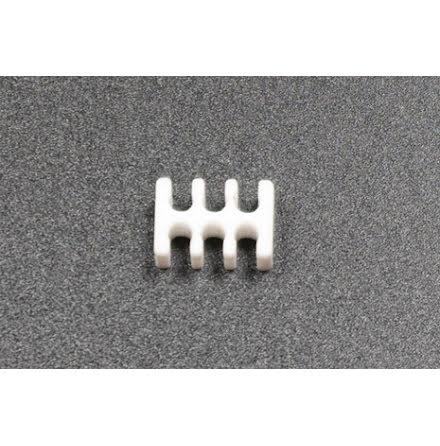 Kabelkam for 6 pins kabel, 2x3 Ø4mm spor, hvit