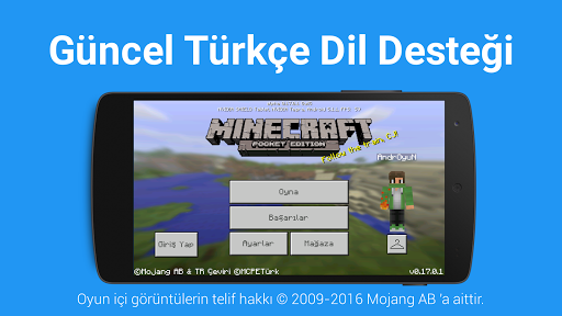 ?? Türkçe Dil: Minecraft PE 2.3 screenshots 1