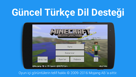 Türkçe Dil: Minecraft PE screenshot 0