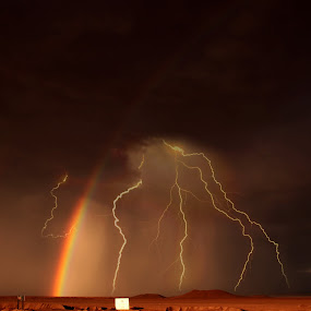 luces by Alberto Nadgar R. - Landscapes Deserts ( arcoiris, tormenta, lluvia )