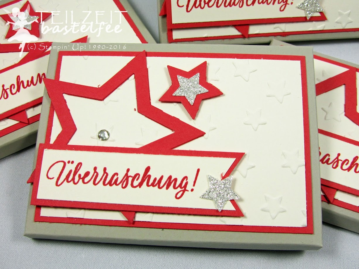 Stampin' Up! – Adventskalender, Schokolinsen, advent calendar, Envelope Punch Board, Star Framelits, Tin of Tags, Drauf und Dran, Mini-Glöckchen, bells, Christmas, Weihnachten
