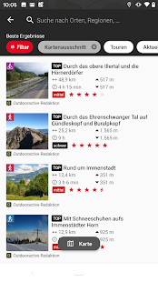 Naturfreunde Tourenportal Screenshot