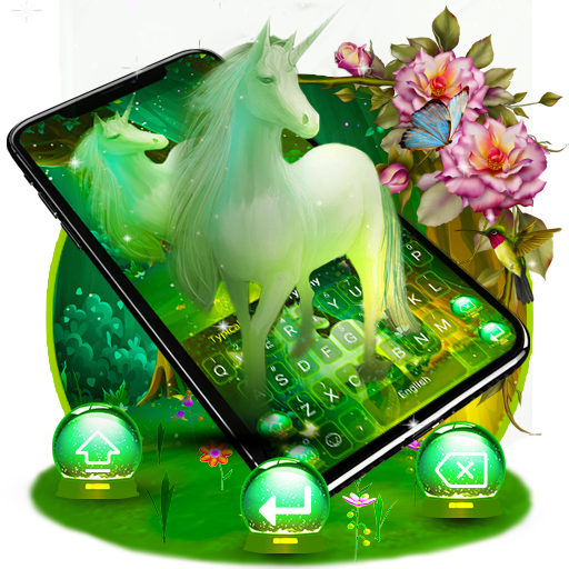 Lovely Fantasy unicorn Keyboard