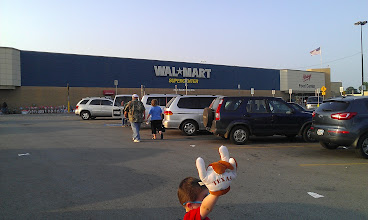 Photo: We headed to our local Walmart for the shopping - AFTER seeing Avengers!!!! Look out for my personal review of Avengers later this week {Hint: LOVED IT!!} The Boy added another necessity to our shopping trip - the Hook Em Horns hand!!